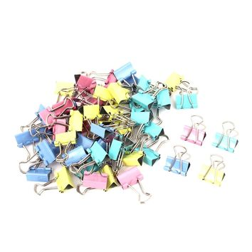 Affordable 60 Pcs Metal Assorted Color File Paper Binder Clips