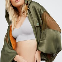 Free People Mesh It Up Windbreaker