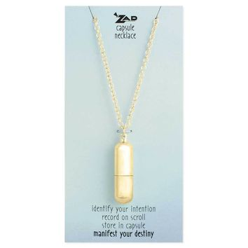 Gold Wish Capsule Necklace
