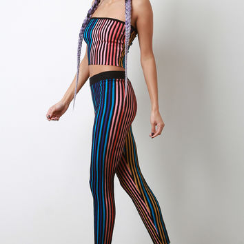 Multi Color Ribbed Knit Leggings | UrbanOG