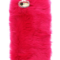 FURRY ROSE IPHONE CASE