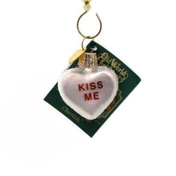 CREYUG7 Old World Christmas Conversation Heart Glass Ornament