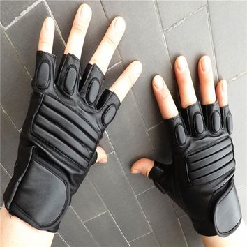 Men Leather Motorcycle Outdoor Sports Protection Fighting Gloves