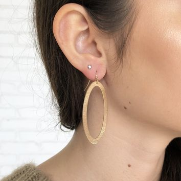 Oval it Gold Earrings