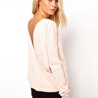 ASOS Drape Back Jumper