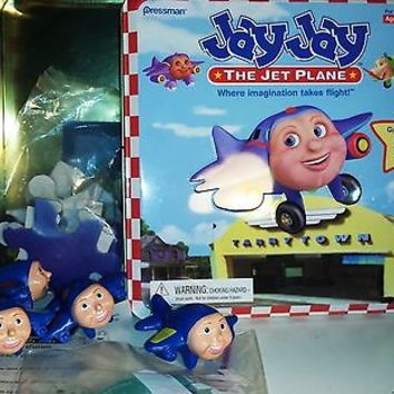 Jay jay jet plane Fly On Over Matching Game 24pc Puzzle in Tin Box Near Mint