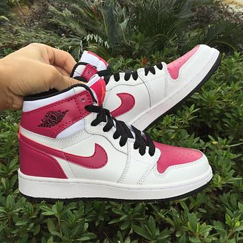 Air Jordan 1 GS Spirit Fuchsia Women Sneaker Girl Basketball Shoes-1