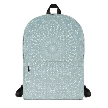 Mandala in Sea Foam Backpack