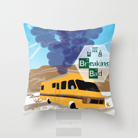Throw Pillow Cover. Breaking Bad Lab at Distressed Place Pillow Cover. 18 inch. Double sided Print