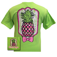 Girlie Girl Originals Pineapple Comfort Colors Lime Green Bright T Shirt