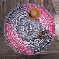 2017 Beach Cover Up Tablecloth Pareo Sarong Cloak Beach Mat Bathing Suit Chiffon Geometric Print saida de praia Chiffon