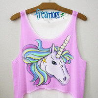 Spring Breakers Unicorn crop top | fresh-tops.com