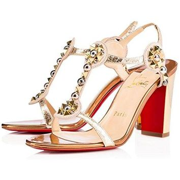 Christian louboutin Womens Kaleitop Lame Sir VV Heel Sandals