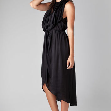 Zimmermann Racer Hydrangea Knot Tunic Dress in Black