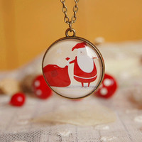 Santa's Gift Handmade Christmas Sweater Necklace