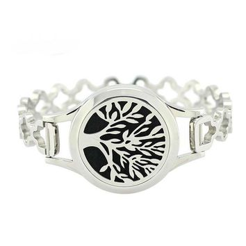 'Tree Of Life' Twist Essential Oil Diffuser Bangles