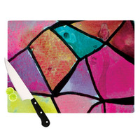 "Theresa Giolzetti ""Stain Glass 3"" Cutting Board - Outlet Item"