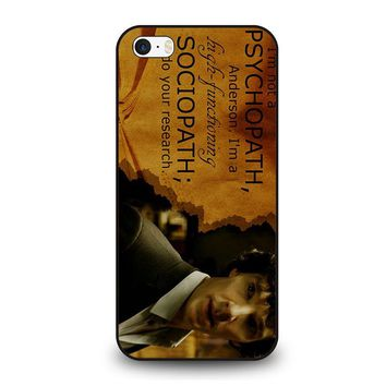 SHERLOCK HOLMES PSYCHOPATH iPhone SE Case Cover