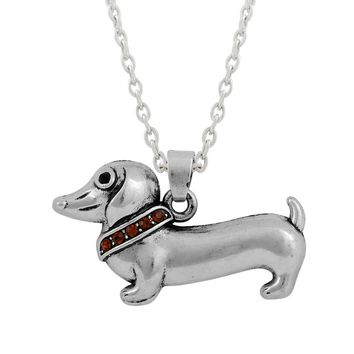 Cute Little Dachshund Puppy Dog Pendant Necklaces