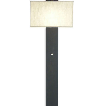 FLAT WALL SCONCE BLACK