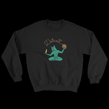 Cat Spirit of Detroit Crew Neck Sweatshirt Unisex