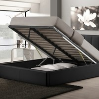 Porter Upholstered Queen-Sized Gas Lift Storage Bed