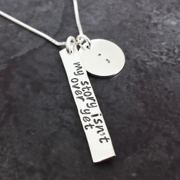 My Story Isn't Over Yet Semicolon Necklace