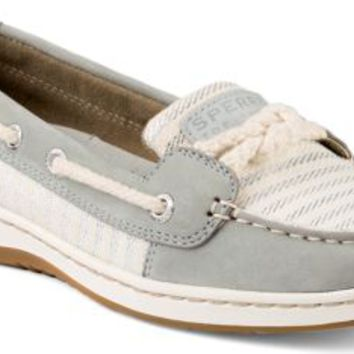 Sperry Top-Sider Cherubfish Mariner Stripe Slip-On Boat Shoe Charcoal, Size 7.5M  Women's Shoes