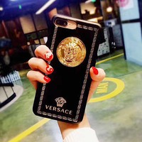 Black VERSACE Case for iPhone 8 iPhone 8 Plus iPhone X iPhone XS iPhone XS MAX iPhone XR