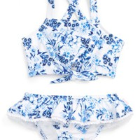 Seafolly Forget Me Not Tankini Two-Piece Swimsuit (Toddler Girls & Little Girls) | Nordstrom