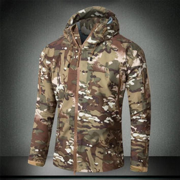 Tactical jacket military clothing hardshell hunting clothes camouflage Outdoor Camping   coat for men multicam windbreaker coat