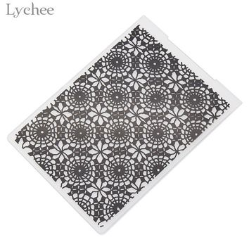 Lychee Lace Flower Circle Plastic Embossing Folder For Scrapbook DIY Album Card Tool Template Stamp Card Making Decoration