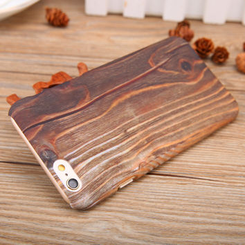 Nature Wood Ultra Thin Skin phone cases for iphone 5 5s 6 6s 6 plus 6s plus