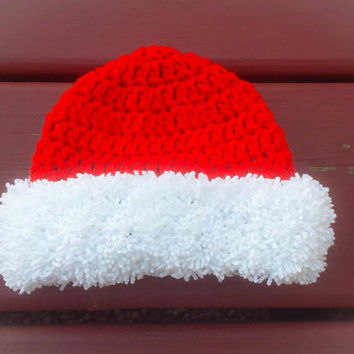 Christmas newborn hat, baby Xmas beanie, baby gift ideas, infant cap, girl or boy, Santa pictures, Christmas photos, any kids size baby gift