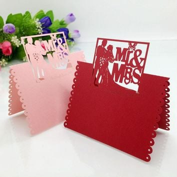 20 Laser Cut Mr & Mrs Table Name Place Card Seating Numbers