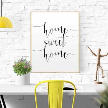 WELCOME SIGN Home Sweet Home Printable Instant Download Printable home quote decor home decor typography home sweet home print home wall art