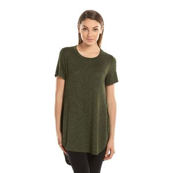Mudd Juniors' Side Slit Sweater-Knit Shirttail Tee, Size: