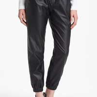 Piper Faux Leather Track Pants | Nordstrom