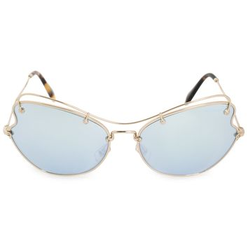 Miu Miu Oval Sunglasses SMU56RS ZVN5Q0 65