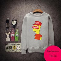 Boys & Men Supreme Hip-Hop Unisex Top Sweater Pullover