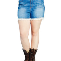 For The Frill Of It Denim Shorts | Wet Seal+