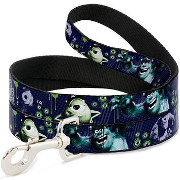 Dog Leash - 6-FEET - Monsters University Sully & Mike Poses GRRRRR! 6' X 1.0""