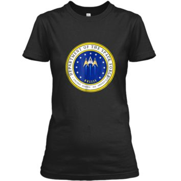 Department of Space Force Funny Political Satire T-Shirt Ladies Custom