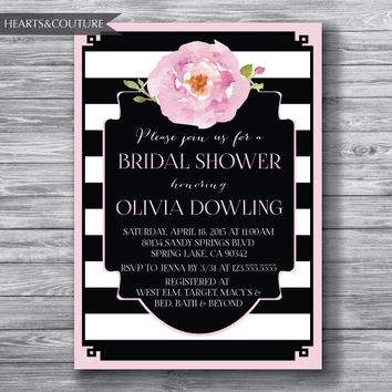 Printable Bridal Shower Invitation, WEDDING SHOWER INVITE, blush bridal shower invitation, bridal invitation, bridal shower, Wedding Shower