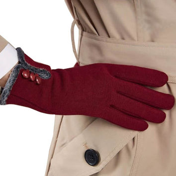 Womens Winter Wrist Gloves Thick and Warm