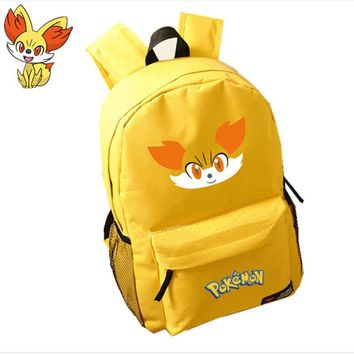 Pokemon Kawaii Fennekin Emoji Anime Backpack