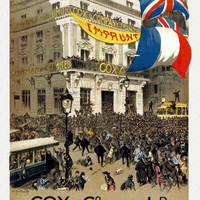 WWI Poster France Cox & Co. France Ld. The 1920 National Loan. Subscribe.