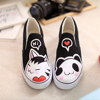 Cute cartoon canvas shoes