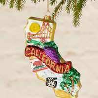 State Of California Ornament - Urban Outfitters