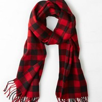 AEO 's Buffalo Check Scarf (Red)
